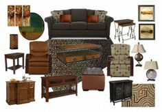 design by sonja shaw by shawdesign | Olioboard.  Fall colors and rustic woods by Lazboy