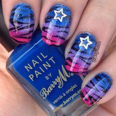 nice easy blue nail art designs 2015 New Nail Art, Cool Nail Art, Nail Designs 2015, Nail Garden, Nails 2015, Animal Nail Art, Great Nails, Hot Nails, Nail Art Hacks