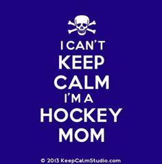 Love being a hockey mom