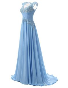 Sexy Prom Dress,Sleeveless Chiffon Appliques Evening Dress,Long Evening
