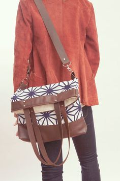 NOMAD Collection   Cotton & Leather Large Tote by gracedesign, $165.00