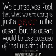 one drop of water in the ocean - Google Search