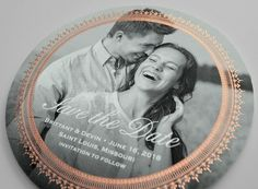 Kleinfeld Paper || Antoinette Save-the-Date with Photo