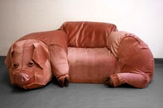 so as not to be outdone by the giant cat couch... I present to you the ginormous pig couch!