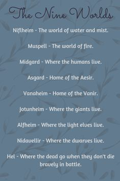 Norse mythology is a huge topic. This is only going to be a brief introduction to its structure, origin, deities, and stories. Norse Pagan, Norse Mythology, Viking Warrior, Viking Art, Viking Woman, Hel Goddess, Viking Quotes, Asgard, Viking Culture