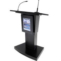 Multimedia podium lectern
