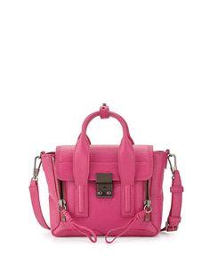 Pashli Mini Leather Satchel Bag, Bright Fuchsia by 3.1 Phillip Lim at Neiman Marcus.