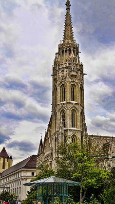 Matthias Church Photograph - Matthias Church Tower - Budapest by Jon Berghoff