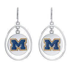 U of M Circle Drop Earrings