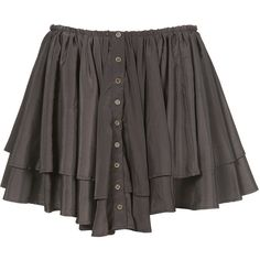 Button Through Frilled Skirt ($54) ❤ liked on Polyvore featuring skirts, mini skirts, bottoms, saias, faldas, last chance to buy, view all, flounce skirt, ruffle skirt and tiered skirt
