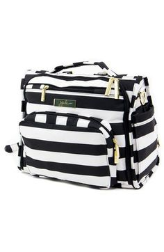 Black and white striped diaper bag (backpack!)