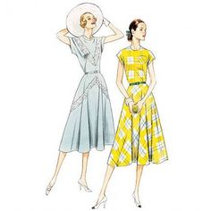 englisches Schnittmuster Vogue 8811 Kleid