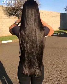 Long Silky Hair, Long Brown Hair, Super Long Hair, Black Hair Video, Long Hair Video, Beautiful Long Hair, Gorgeous Hair, Hair Streaks, Dream Hair