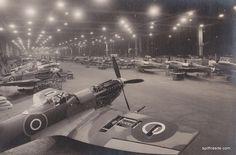 Castle Bromwich Spitfire factory, great retro picture.