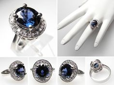 Blue spinel ring.