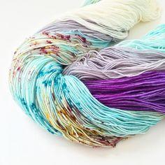 Yeti Love Note and Patina fresh from the dye pots #toilandtroubleyarn #yarn #knitting