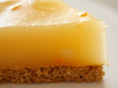 Calamondin (or Lemon) Pie with Fat-free Oatmeal Cookie Crust