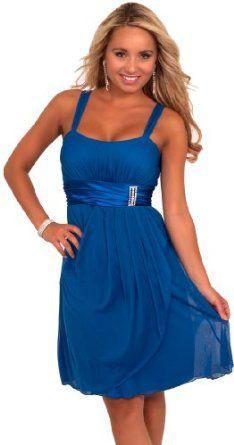 Amazon.com: Hot from Hollywood Women's Sleeveless Rhinestone Empire Waist Sheer Party Dress: Clothing