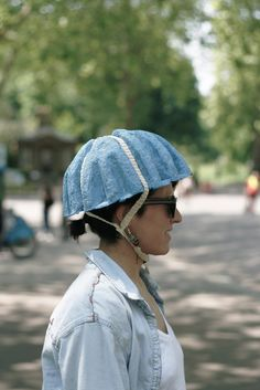Paper Pulp Helmet - intended for short uses, being used right now with London Bicycle Hire Scheme.