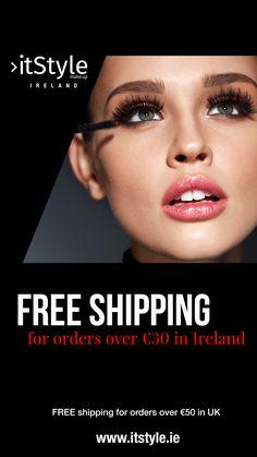 FREE shipping for orders over €50 in UK #makeup #itstyle #itstyleireland #irishbloggers #ukblogger Uk Makeup, Makeup Cosmetics, Ireland, Irish, Free Shipping, Irish Language