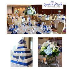 Something blue wedding reception