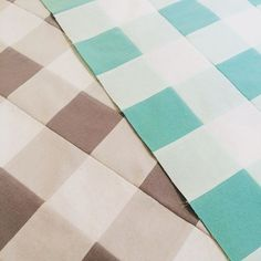 Gingham quilt tops by strawberryfieldquilts Gingham Quilt, Quilt Top, Buffalo Plaid, Baby Quilts, Blanket, Instagram Posts, Tops, Scrappy Quilts, Baby Afghans