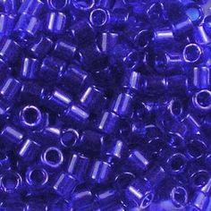 DBL748-80 Matte Transparent Cobalt Miyuki Delica Beads