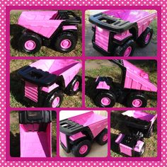 Pink Tonka truck. My daughter will have one!