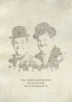 Laurel and Hardy Original graphic poster art designed in The Northern Line studio in Ulverston, Cumbria. We ship worldwide.  #posters #graphicart
