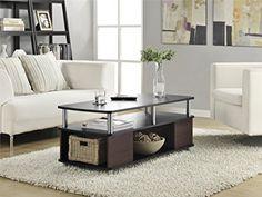 Altra Carson Coffee Table, Cherry/Black
