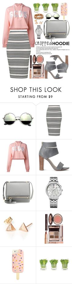 """Cute Trend: Cropped Hoodies"" by oshint ❤ liked on Polyvore featuring Topshop, GCDS, Splendid, Givenchy, Tommy Hilfiger, Charlotte Tilbury, Tory Burch, NDI, STELLA McCARTNEY and cute"