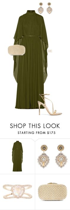 """""""Golden Globes"""" by ccoss on Polyvore featuring Elie Saab, Miguel Ases, Luna Skye, Glint and Gianvito Rossi"""
