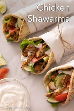 This flavor-packed Chicken This flavor-packed Chicken Shawarma recipe comes together so easily and quickly, all on a sheet pan. Perfectly seasoned, tender, and juicy, you'll be enjoying homemade chicken shawarma wraps in no time. #weeknightmeals #dinnerideas #chickenrecipes