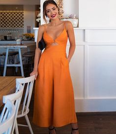 The jumpsuit you need now @piamuehlenbeck wears the Oracle Jumpsuit #sheikestyle