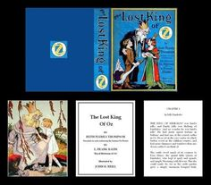 1:12 MINIATURE PRINTABLE BOOK, THE LOST KING OF OZ. More here: http://www.pinterest.com/annesminis/printables-boxes-books-general-all-occasion/ and here: http://www.pinterest.com/annesminis/mini-boxes-books-to-print/