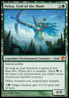 Magic the Gathering Card Reviews: Nylea, God of the Hunt from #Theros - News - #Bubblews #mtg