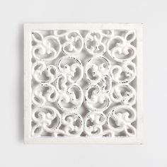 Base para tachos metal quadrada rendilhada