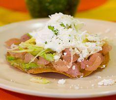 Tostadas de Pata de Res a la Vinagreta - Tostadas :: Antojitos Mexicanos