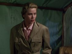 I am happy to talk about another safari-style wardrobe in movies. Helen Rose was the designer and she did a beautiful job. Helen Rose, Safari Jacket, Grace Kelly, Audrey Hepburn, Sewing Clothes, Actresses, Movies, Fictional Characters, Beautiful