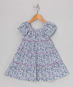 Take a look at this Purple Floral Liberty Maxi Dress - Toddler & Girls by Petit Confection on #zulily today!
