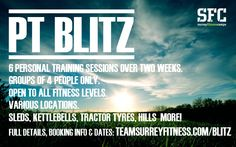 Personal Training, groups of four, across Surrey. Book now!