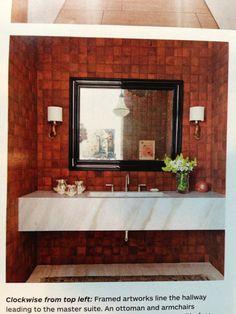Powder Room idea (sink, sconces and mirror)