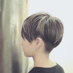 Tomboy Hairstyles, My Hairstyle, Girl Haircuts, Short Hairstyles For Women, Super Short Hair, Short Grey Hair, Short Hair Cuts, Hair Color Asian, Short Hair Undercut