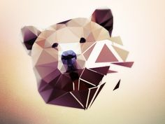 Tattoo - Inspiration - Animal - Bear - face - Geometric - Polygone