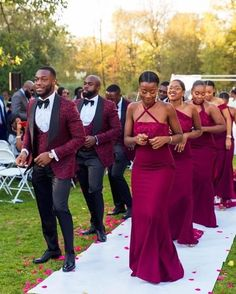 African Bridesmaid Dresses, African Wedding Attire, Elegant Bridesmaid Dresses, Wedding Bridesmaids, Wedding Dresses, Formal Dresses, Groom And Groomsmen Suits, Bridesmaids And Groomsmen, Wedding Suits For Groom