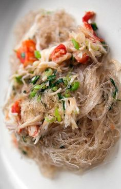 Crab with Cellophane Noodles — This Vietnamese dish is all about the texture of the noodle and the crab meat. Follow along with The Slanted Door's chef, Charles Phan, in the full video recipe @pannacooking