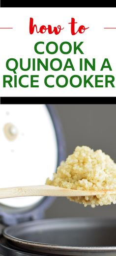 This easy method on How to Cook Quinoa in a Rice Cooker is easily my favorite way to cook quinoa that I've ever tried. It is so simple and foolproof. #wendypolisi #healthy #glutenfree  #cookingquinoa Best Quinoa Recipes, Healthy Gluten Free Recipes, Great Recipes, Dinner Recipes, Perfect Quinoa, Protein Pack, How To Cook Quinoa, Rice Cooker, Glutenfree