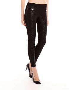 Bershka Romania - Bershka ornate fabric leggings