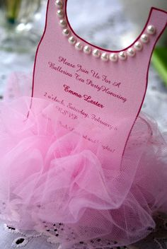 Ballerina Tutu Invitation.  Easy to make, and they turned out BEAUTIFUL!