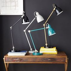 Industrial Task Table Lamps #westelm - Antique Brass